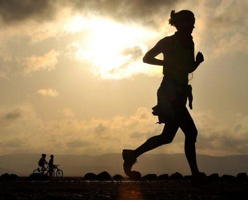 Sports massage helps runner